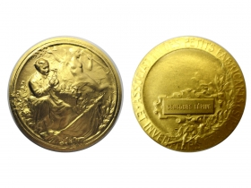 """Золотая медаль за лучшее изобретение """"Зубная щётка с монохроматическими излучателями синего света """"АВЕРС-СТОМ"""" на 112 французской международной выставке изобретений в Страсбурге в сентябре 2013 года"""