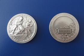 """Серебряная медаль за изобретение """"Способ получения электроэнергии в бытовых условиях"""" на 113 французской международной выставке изобретений в Страсбурге в сентябре 2014 года"""